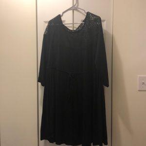 NWT Cinch-waist Dress with Lace Neckline